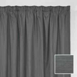 Sheraton Georgia Taped Curtain Charcoal - 2 Sizes