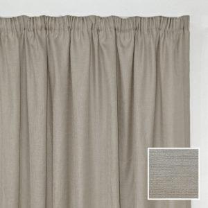 Sheraton Georgia Taped Curtain Taupe - 2 Sizes