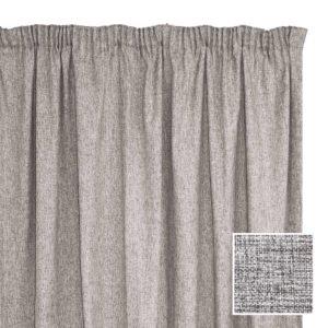 Sheraton Manhattan Taped Curtain Silver - 2 Sizes