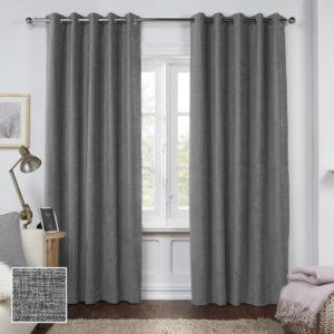 Sheraton Manhattan Eyelet Curtain Charcoal