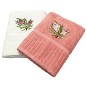Colibri Embroidered Towel Set Protea