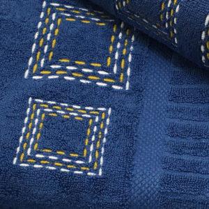 Colibri Embroidered Towel Set Seedblock Blue