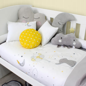 Sheraton Ellies Balloon Embroidered Cot Duvet Set