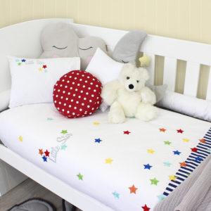Sheraton Little Star Embroidered Cot Duvet Set
